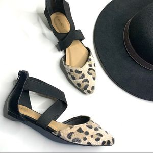 Rampage Cheetah Print Pointed Toe Flats
